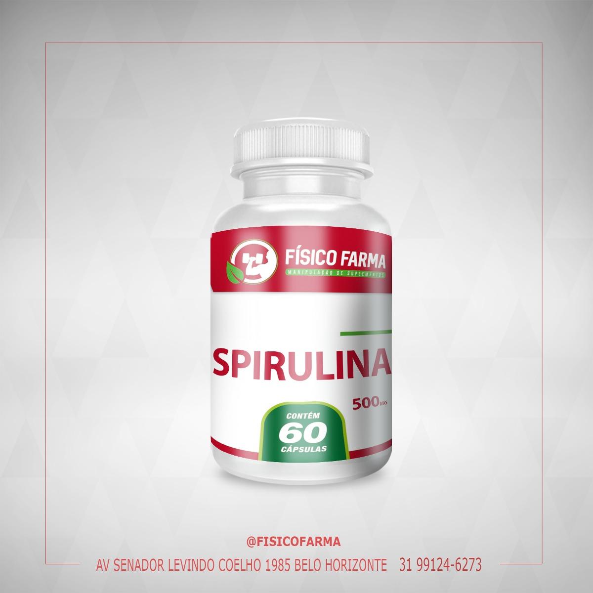 SPIRULINA 500mg - 60 Cápsulas