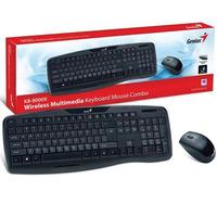 Kit Teclado E Mouse Genius Wireless Kb-8000x Usb