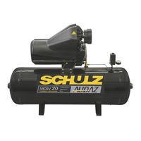 Motocompressor estacionario Audaz MCSV20 150 Litros 4 polos 60hz 5cv 220/380v 922.9295-0 Schulz