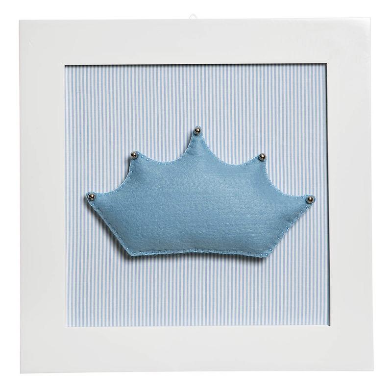 Quadro Decorativo Coroa Azul