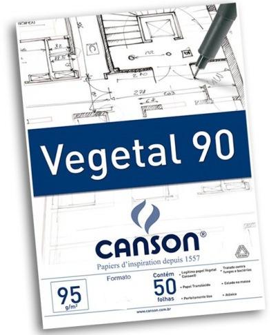 Bloco Papel Vegetal Canson 90 95gr A3 *super*preço*