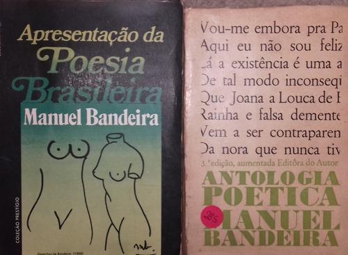 Combo 285 - 2 Livros Antologia Poética /apr. Da Poesia Brasi Original