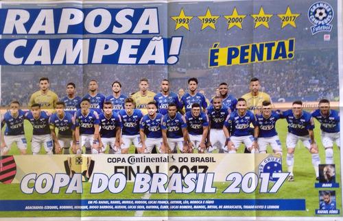 Pôster Cruzeiro Penta Campeão Copa Do Brasil (2017) 55 Cm 85
