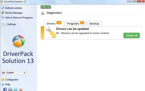 Driver Pack Solution 13 Drivers Windows  Xp, 7 ,8 , 8.1,10 Original
