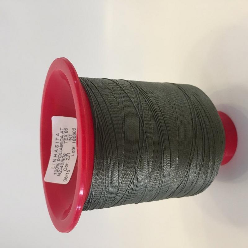 Linha 40 para costura verde escuro - 221