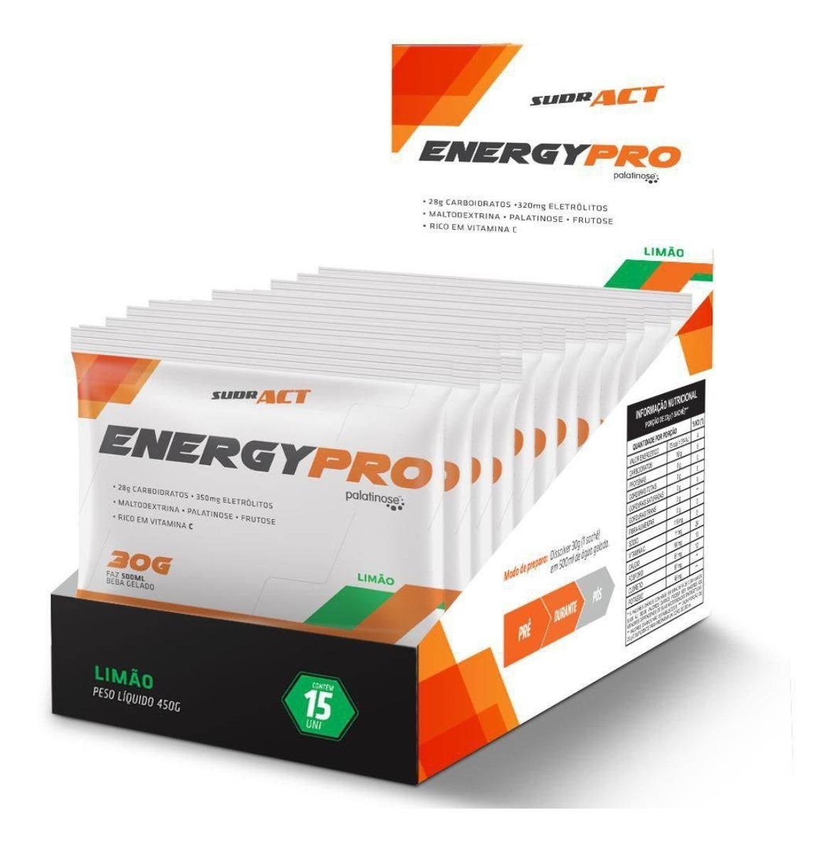 Suplemento Energético Sudract Energy Pro 30g C/ 15...