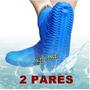 2 Capa Chuva Sapato Silicone Tenis Moto Protetor Calçado