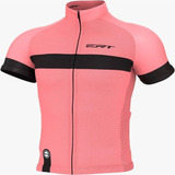 Camisa Ciclismo Mtb Speed Ert Nova Tour Strip Salmon