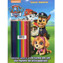Livro Patrulha Canina Colorir Especial Com 12 Lapis De Cor