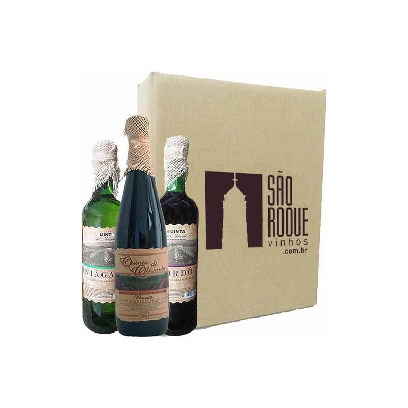 Kit Vinho Bordô Suave + Seco + Branco Niagara - Quinta do Olivardo