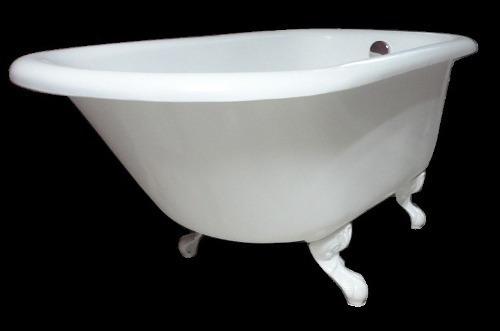 Linda Banheira Vitoriana Branca Super Resistente Em Fibra ! Original