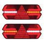 Par Lanterna Triplo X Led 12v Universal Carreta C/ Chicote