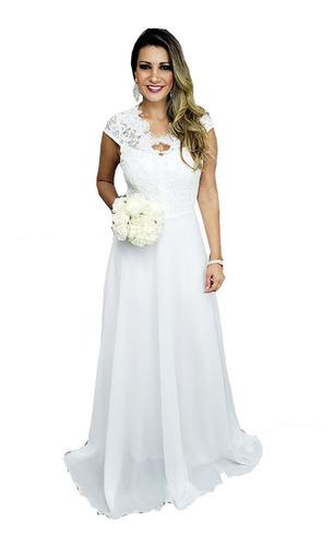 Vestido De Noiva Casamento Civil, Praia, Campo, Simples Original