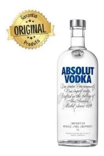 Absolut Vodka  Sueca 1l -  Com Notal Fiscal Original