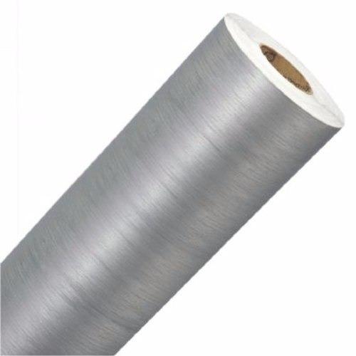 Adesivo Aço Escovado Inox - Geladeira Moveis Carros 100x50cm