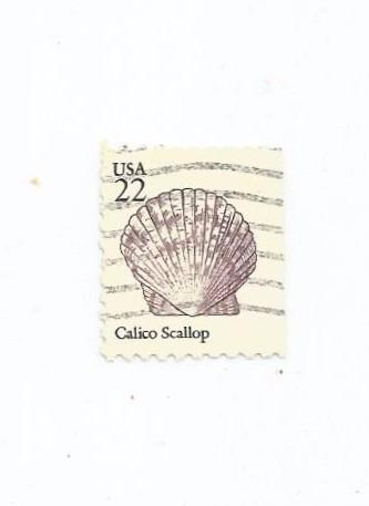 Selo Estados Unidos,vida Marinha,22c  1985 Conchas,usado Original