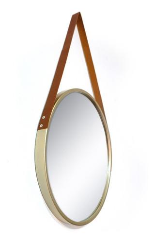 Espelho Redondo Decorativo Com Alça 45 Cm * Diversas Cores * Original