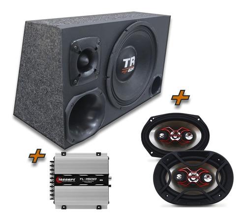 Kit Caixa Trio Woofer Tr620 Rms + 6x9 Bravox + Tl1500 Modulo Original
