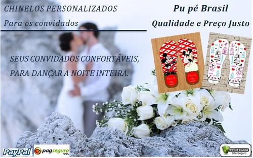 60 Chinelos Sandálias Casamento Personalizados 12x S/ Juros