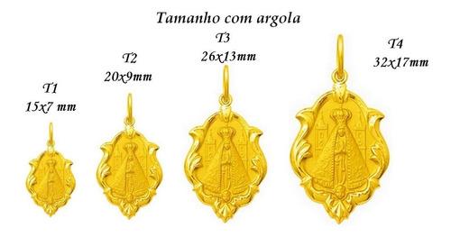 Medalha 46 Imagens De Santos Disponível Ouro 18k 2,6cm Ot3-f Original
