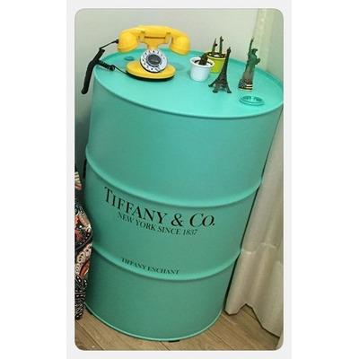 Tambor | Barril | Tonel Decorativo Marcas Azul 200 Litros em São Marcos