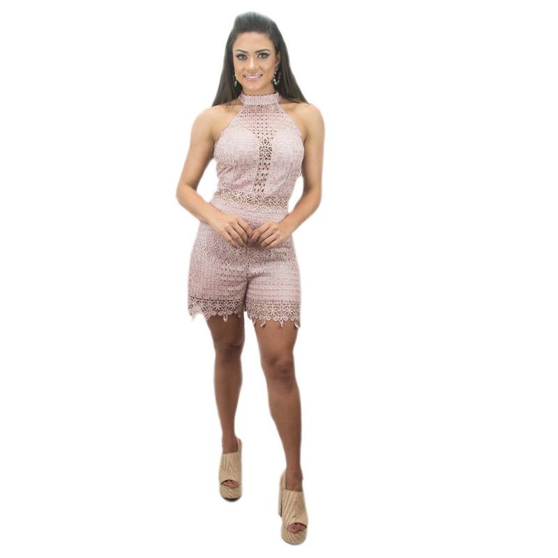 MACAQUINHO ROSA RETRÔ RENDADO - RMA00005