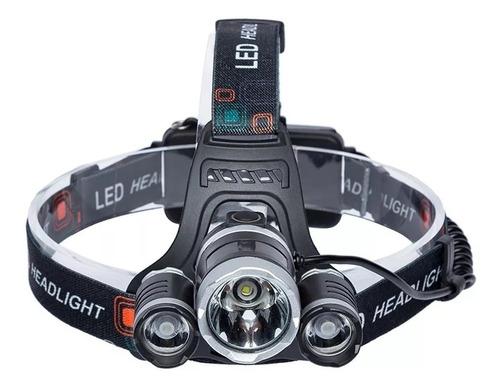 Lanterna Cabeça Triplo T6 3led Cree Profissional Tática Swat Original
