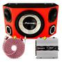 Caixa Trio Pioneer Completa Som Carro Amplificador Taramps