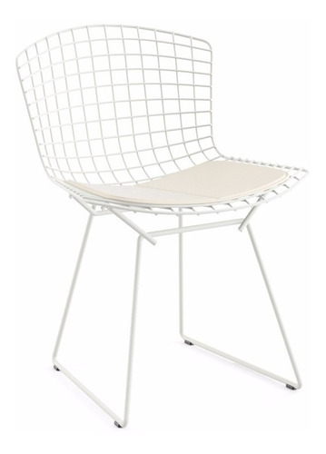 Cadeira Bertoia Em Aço - Cor Branca Original
