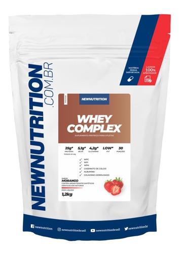 Whey Complex 1,2kg Morango Newnutrition Original
