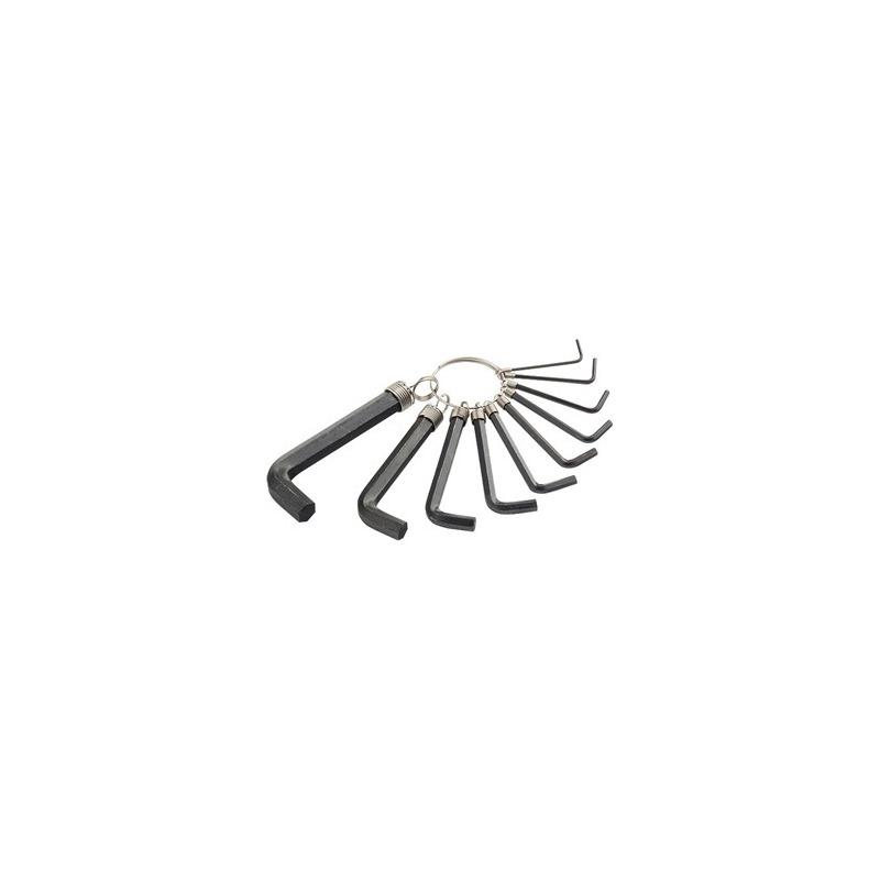 Kit Chave Allen 10pçs Curta 1,5-10mm 112665 Preto - sparta