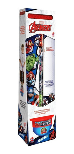 Brinquedo Infantil Jump Ball Marvel Avengers Da Lider 2312 Original