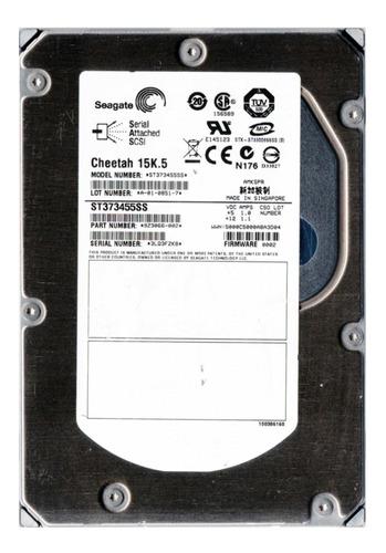 Hd 73gb Sas Hp Dell Ibm Seagate St373455ss 3.5 15k +  Original