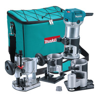Tupia Manual com Kit 6mm 710 Watts - RT0700CX3 - Makita