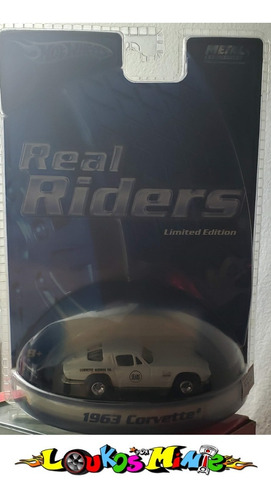 Hot Wheels 1963 Corvette Real Riders Sears 1:64 Lacrado Original