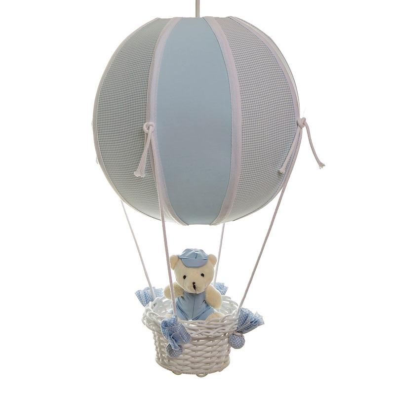 Lustre Balao Bolinha Urso Azul