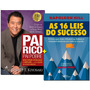 Livros Pai Rico Pai Pobre 16 Leis Do Sucesso Frete Gratis