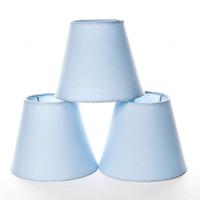 Jogo Cupulas Para Lustre Azul (3 Unid.)