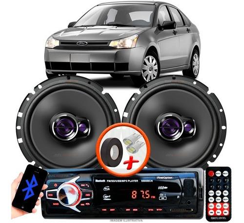 Som Para Carro Rádio Mp3 + 2 Alto Falante Pioneer D 6'' Pol Ts1760br Ford Focus Sedan Original