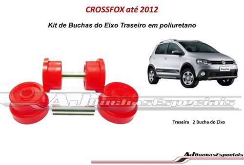 Crossfox Até 2012 Buchas Do Eixo Traseiro Em Poliuretano 2pç Original