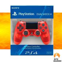 Controle Dual Shock 4 Vermelho Cristal - PS4