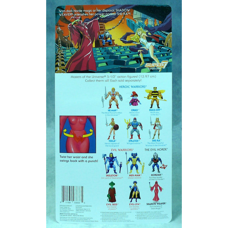 Shadow Weaver Vintage Masters Of The Universe Sombria Super7