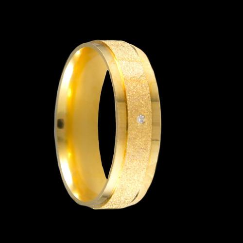 Alianças De Ouro Anatômicas Diamantadas