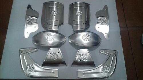 Kit 10 Alumínio Fusca Todos Anos E Modelos Polaina Pestana Original
