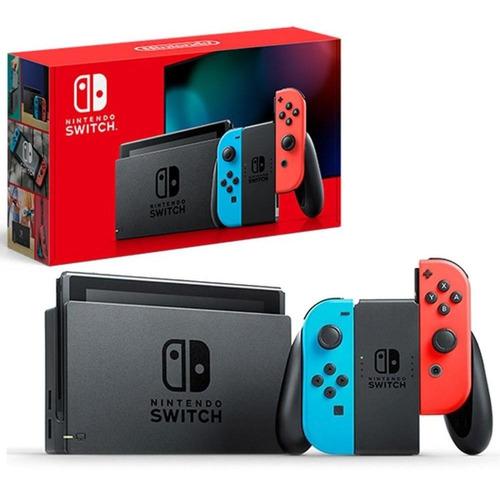 Nintendo Switch 32gb Neon Blue / Red  Extend Battery Original