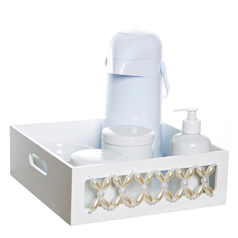 Kit Higiene Classico Perolas Com 6 Peças