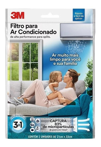 Filtro De Alta Performance 3m Para Ar Condicionado Split Original