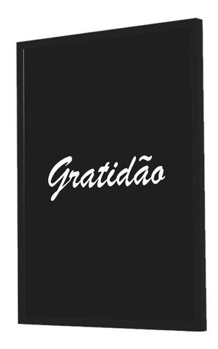 Quadro Decorativo Frase Gratidão Grande 53x&73CM
