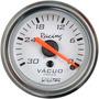 Manômetro Willtec 52mm Neon Tuning Painel Carro Bateria R Cr