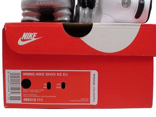6121d1a77 Comprar Tênis Nike Shox Nz Eu Couro Branco 100% Original Tamanho 35 ...